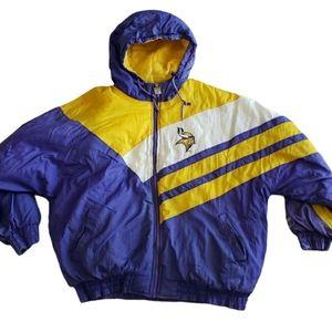 LOGO 7 Minnesota Vikings Jacket XL NFL Vtg Coat